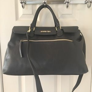 Kenneth Cole Reaction Handbags - 🛍 Kenneth Cole Gray Gold Large Satchel Tote Bag