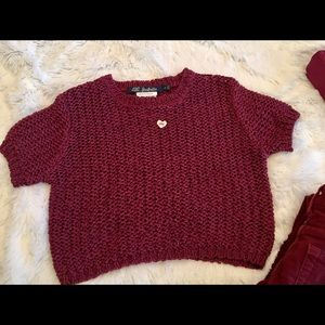 Lili Gaufrette Other - Gorgeous French cropped sweater size 4