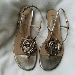 """Valentino Garavani Shoes - Valentino """"Rosette"""" flat sandals"""