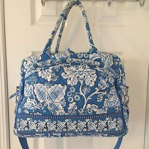 Vera Bradley Handbags - 🛍 Vera Bradley Blue Lagoon Satchel Laptop Bag