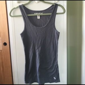 Abercrombie & Fitch Medium Gray Tank Top