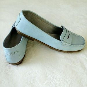 AEROSOLES Shoes - 🔴Light Blue Faux Leather Penny Loafers🔴