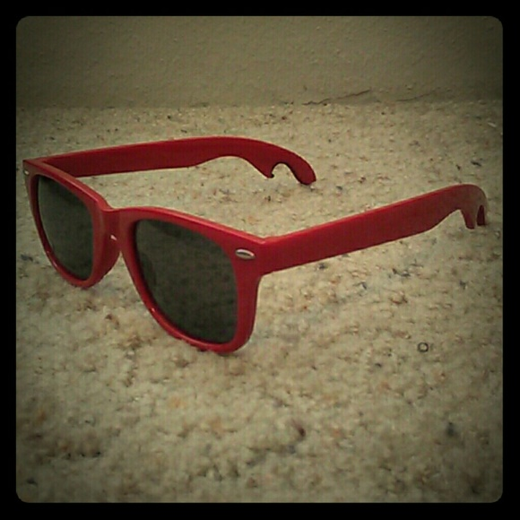 5ec93f90b1 NWOT Red Sunglasses with Bottle Opener Ends