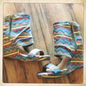 Michael Antonio Shoes - Aztec fringe wedges