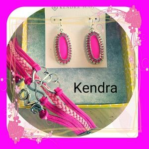 New Kendra Scott Earrings with Bonus Bracelet