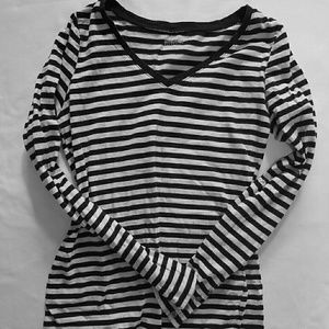 Motherhood Tops - Motherhood Maternity Striped Long Sleeve Shirt