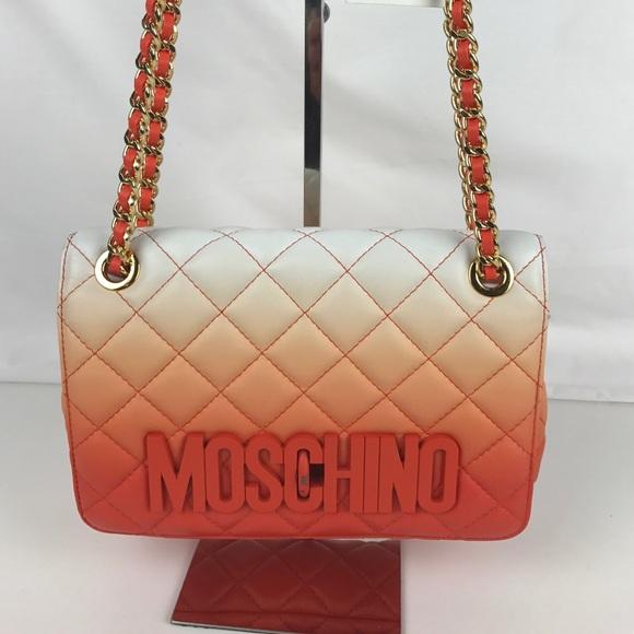 8bf37585e4 Moschino Bags   Degrade Italian Leather Shoulder Bag   Poshmark