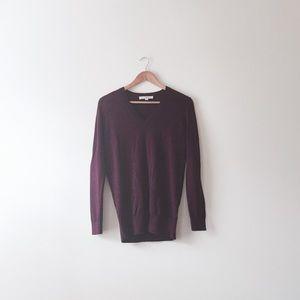 LOFT Sweaters - Loft plum v neck sweater