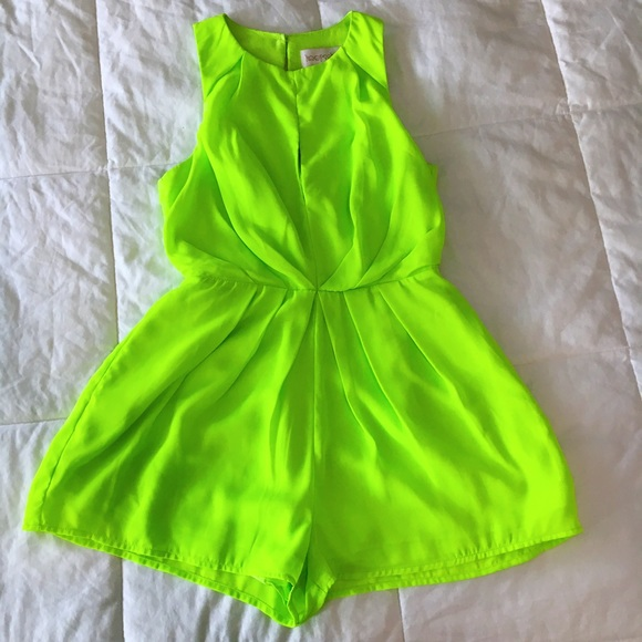 Keepsake Pants - MOVING SALE❗️Keepsake Neon Green Romper