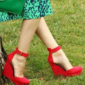 Zara Shoes - Zara Red Wedges