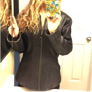 Wilsons leather black jacket
