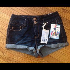 Jolt Pants - Jeans shorts, high waisted, by Jolt