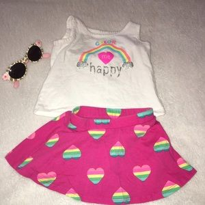 Children's Place Other - Infant 12-18 💝skirt, top and sunglasses for girl
