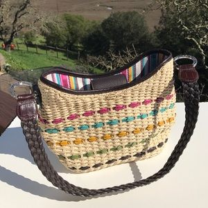 Brighton Handbags - Brighton Straw Woven Rainbow Braided Bag