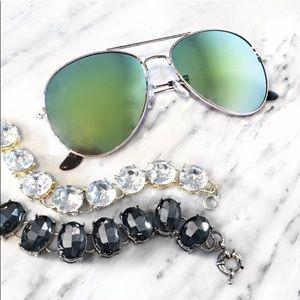WILA Accessories - NEW😎 green blue aviator sunglasses mirrored