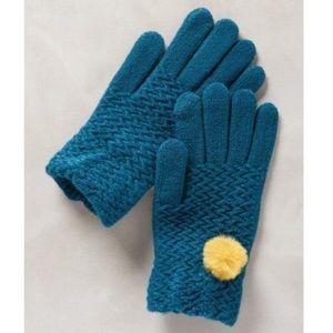 Anthropologie Accessories - LOWEST! Anthro  Pom Pom Gloves