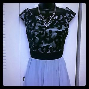 Little Mistress Dresses & Skirts - Black & Gray evening dress