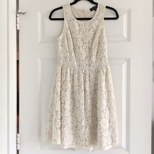 Karen Kane Ivory Lace Skater Dress