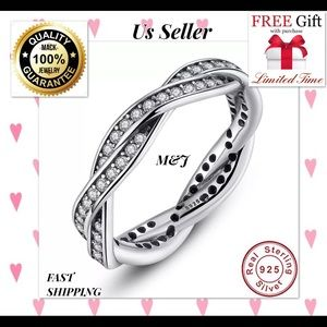 Jewelry - Big sale💓925 silver ring fashion band  men women