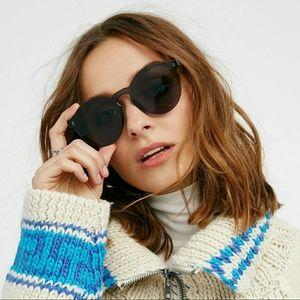 Black Monolens Rimless Sunglasses