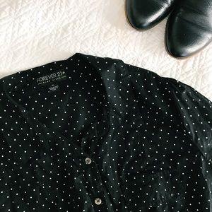 Forever 21 Tops - Forever 21 Plus Polka Dot Button Shirt