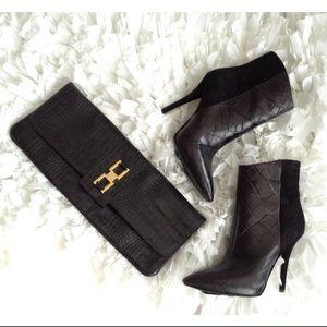 LK Bennett Handbags - L.K. Bennet Black Croc Clutch ❤️