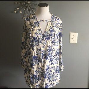 Floral boho tunic/mini dress