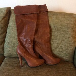 N.Y.L.A. Shoes - Rare NYLA Retusa over the knee leather boots