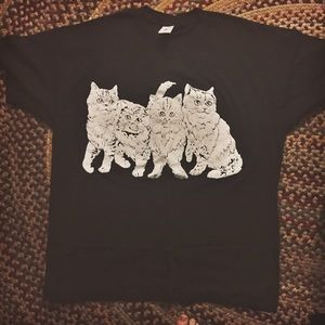Vintage front and back cat shirt