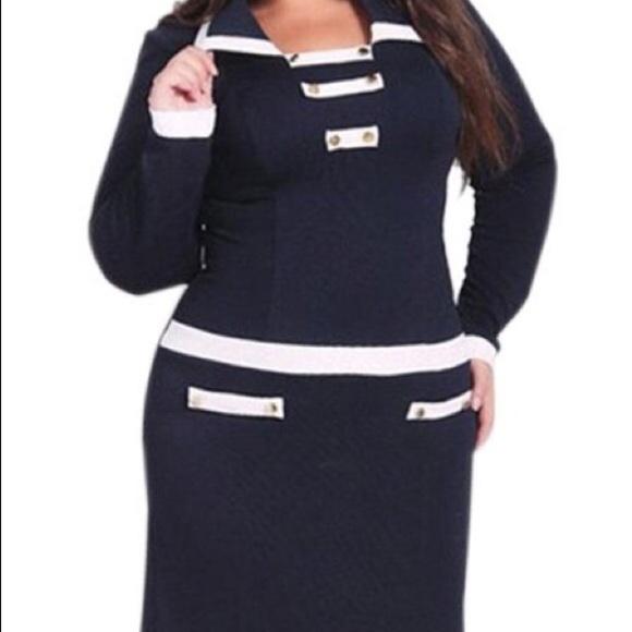⚡️⚡️Plus Size Sailor Dress ⛵️