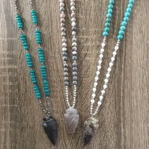 simple sanctuary Jewelry - ONLY TWO LEFT!JASPER ARROWHEAD NECKLACE