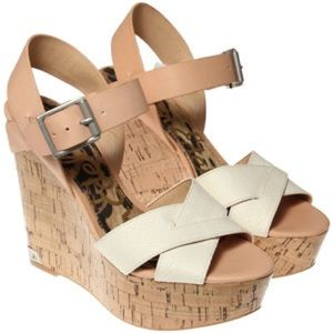 Sam Edelman Tan Sasha Platform Wedges