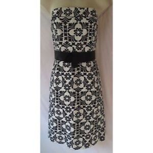 Lily Pulitzer Black and Ivory Linen Dress