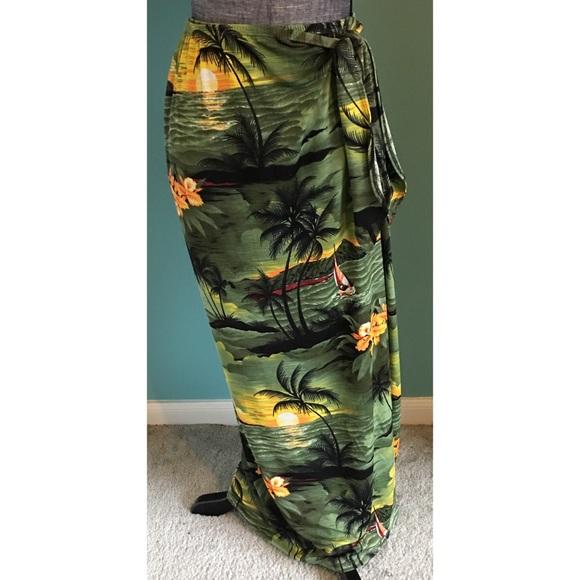 Vintage Swim - Vintage Stretch Maxi Wrap Skirt Sarong Coverup
