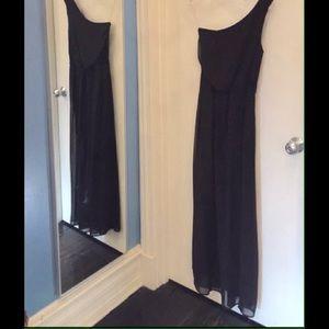 Ali & Kris Dresses & Skirts - One shoulder black gown