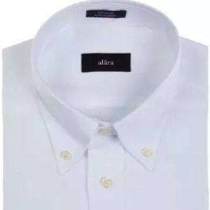 Alara Other - Alara White Pinpoint Oxford ButtonDown Shirt Slim