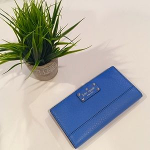 kate spade Handbags - Brand New Kate Spade Bay Street Unique Blue Wallet