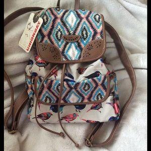 UNIONBAY Handbags - NWT Adorable Boho Bird Drawstring Backpack Bag 💙