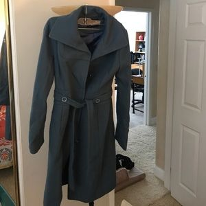 Blue long peacoat!