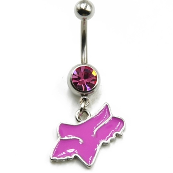 Fox Jewelry Nwt Racing Belly Button Ring Pink Poshmark