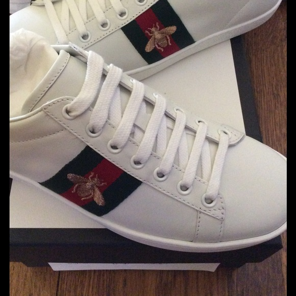 b4709c7c2 Gucci Shoes | Ace Low Top Bee Sneakers 37 Nwt | Poshmark