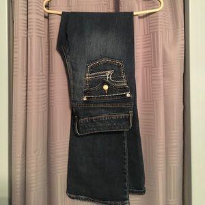 72% off wrangler rock Denim - Cross studding on back pocket cowgirl jeans from Chantelu0026#39;s closet ...