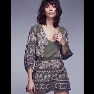 FREE PEOPLE floral print dress tunic