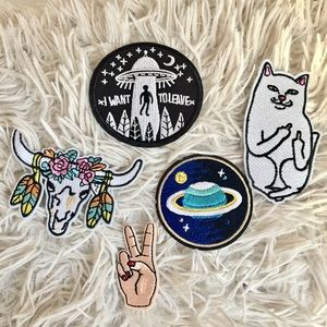 Denim Jacket Iron on or Sew on Patches
