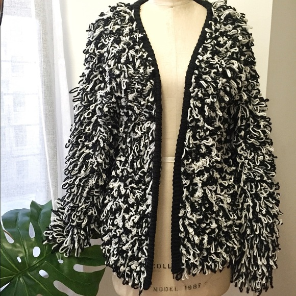 Sweaters - Glamorous Black and White Oversized Cardigan