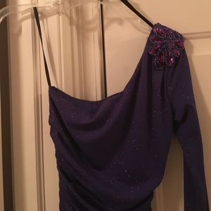 Triangle Dresses & Skirts - One shoulder purple dress
