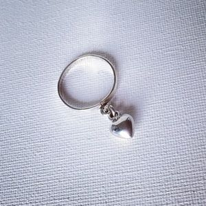 Sterling Silver Puffy Heart Ring