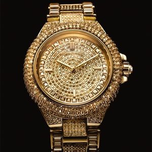 Gold michael kors Camille glitz watch