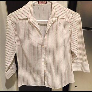 Thomas Pink Tops - Thomas Pink Striped Button Down Shirt