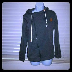 Classic Fashion Tops - *Dark Grey Hooded Fleece* NWOT!!!